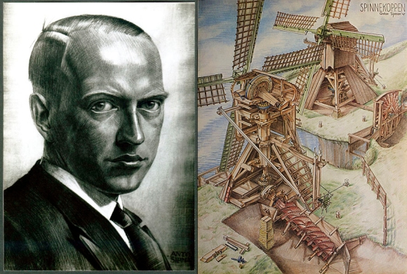 Anton Sipman, zelfportret, conté tekening, ± 1927